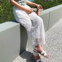 Wide Leg Pants Femme pantalon taille haute Plus Size Linen Loose Female Capris Trousers Women's Long Pants Cotton High Waist