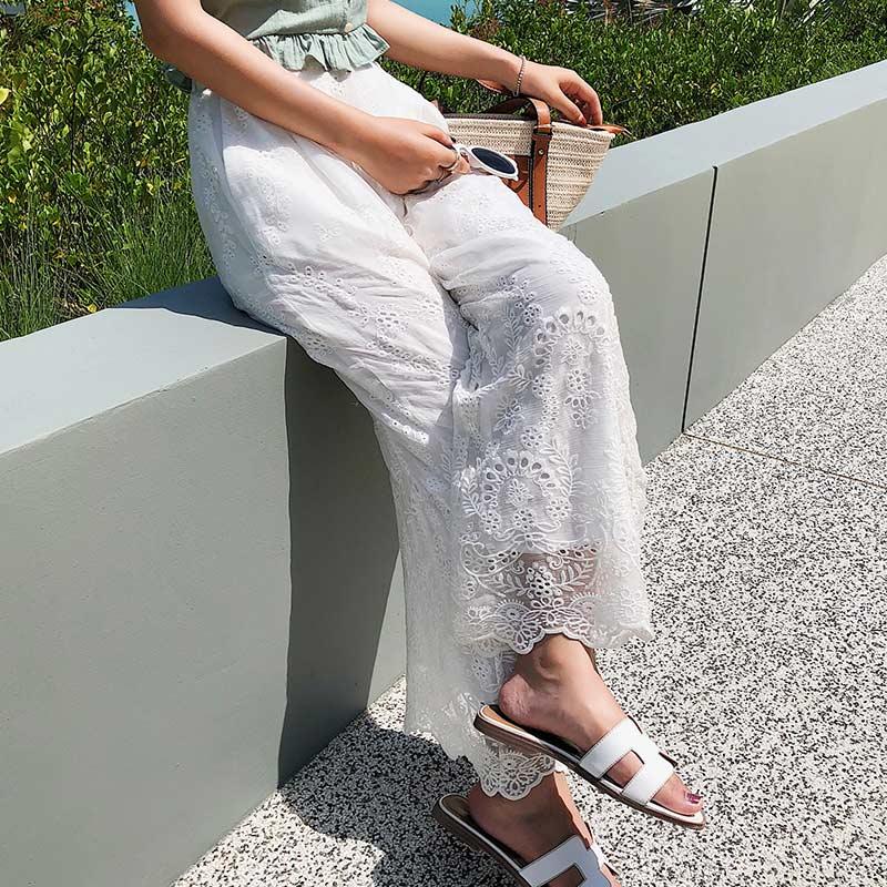 Wide Leg   Pants   Femme pantalon taille haute Plus Size Linen Loose Female   Capris   Trousers Women's Long   Pants   High Waist