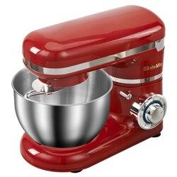 1200W 4L LED licht 6-speed Küche Elektrische Food Stand Mixer Schneebesen Mixer Kuchen Teig Brot Mixer Maker maschine
