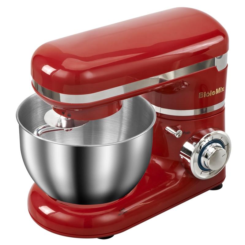 1200W 4L lumière LED 6 vitesses cuisine électrique support alimentaire mélangeur fouet mélangeur gâteau pâte pain mélangeur Machine