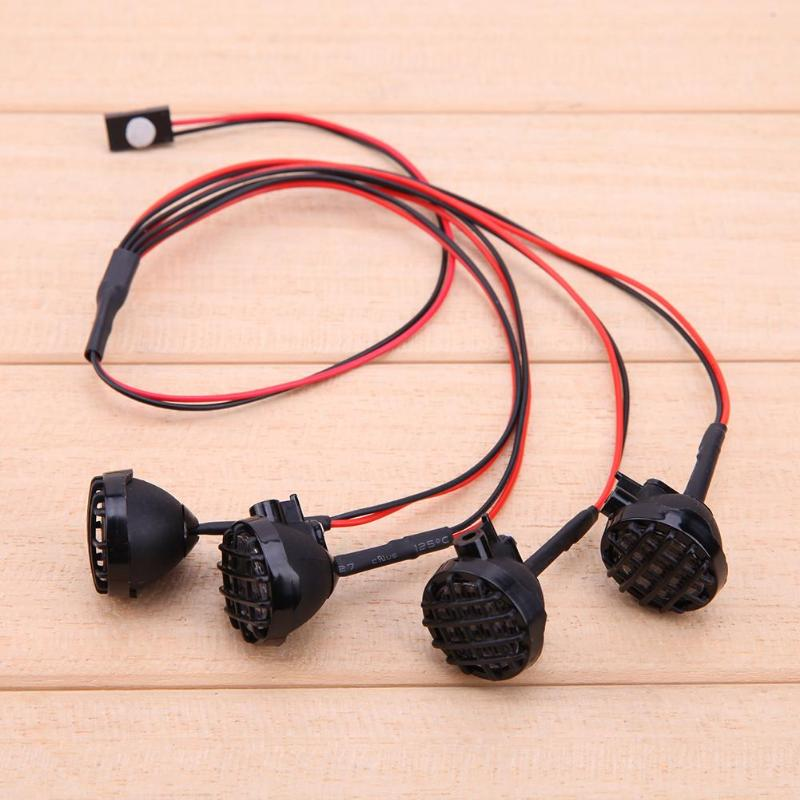 4 LED Car Model Light With Lampshade For 1//10 Traxxas HSP RC Crawler Car Part US