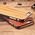 Floveme caja de madera real para el iphone 6 6 s 7 para iphone 6 6 S Más 7 Más Natural de Madera Dura de Nuevo del PhoneCover Durable de Alta Calidad Capa