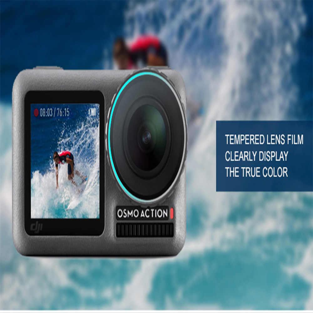 Película de pantalla de la Lente de la cámara de película protectora accesorio para DJI OSMO acción cardán 4 K Video PFS Protector del teléfono