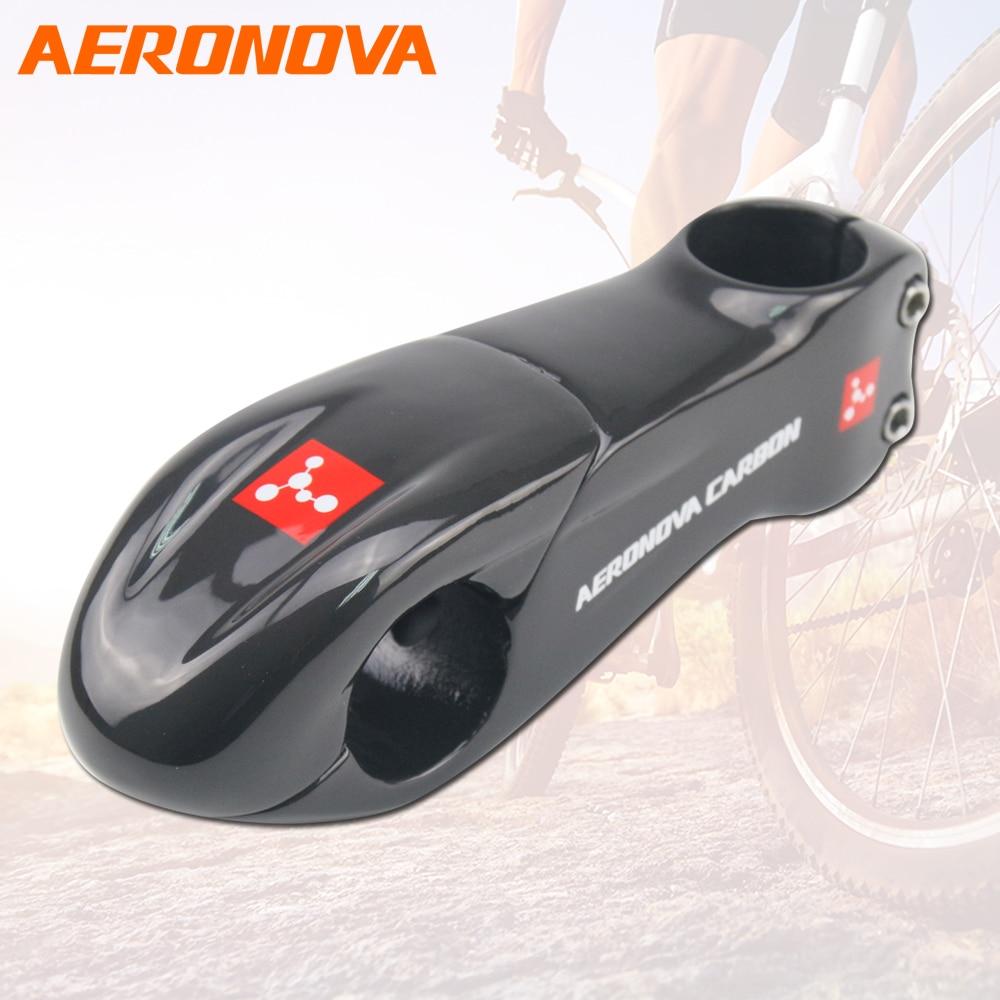 AERONOVA Carbon Fiber MTB Stem 10 Degree Stem Bike UD Glossy Road Mountain Bicycle 31 8
