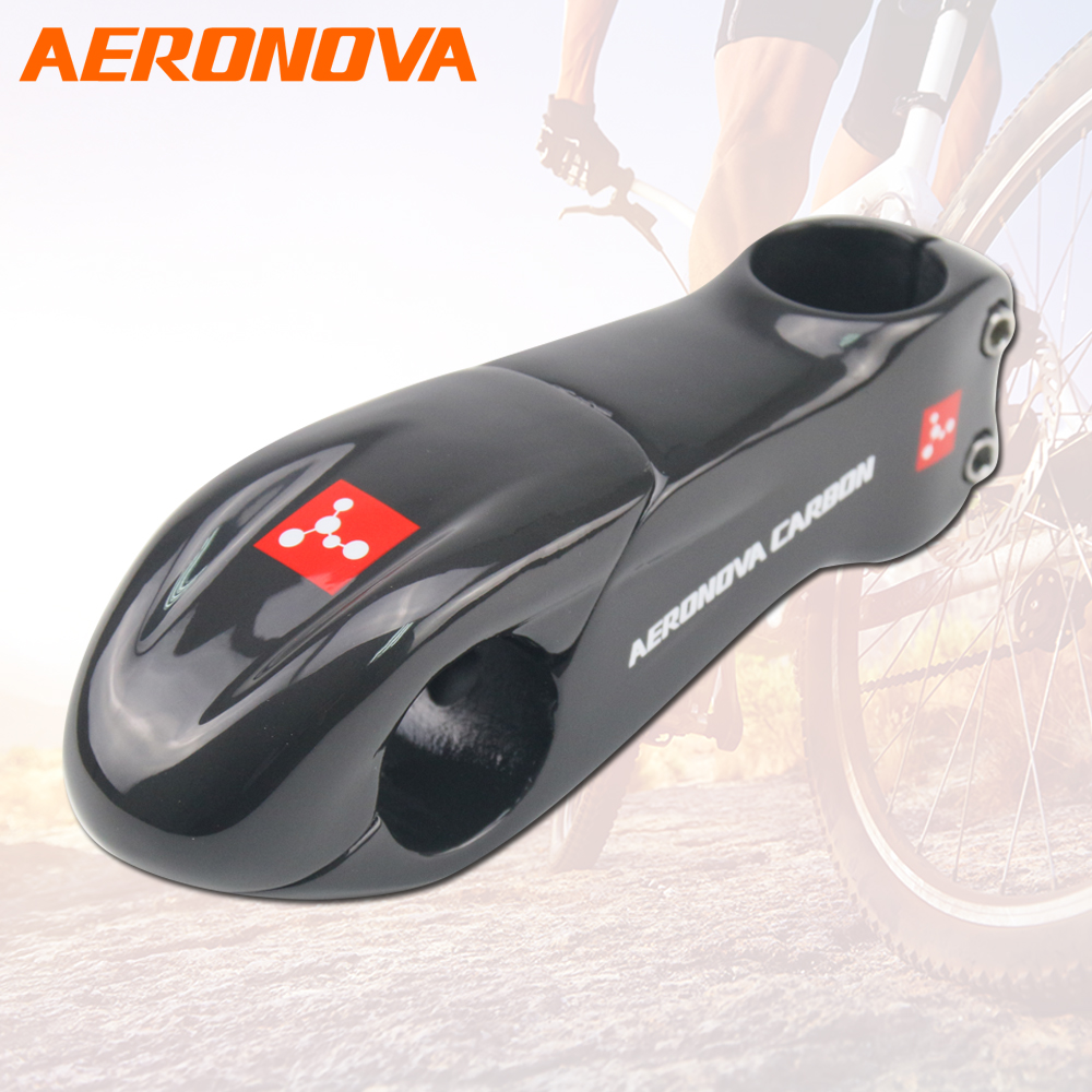 AERONOVA Carbon Fiber MTB Stem 10 Degree Stem Bike UD Glossy Road/Mountain Bicycle 31.8*90/100/110mm Bike Carbon Stem ultra light carbon fiber road bike mountain bike bicycle stem riser goose carbon stem 10 degree gloss matte 31 8 80 90 100 110mm