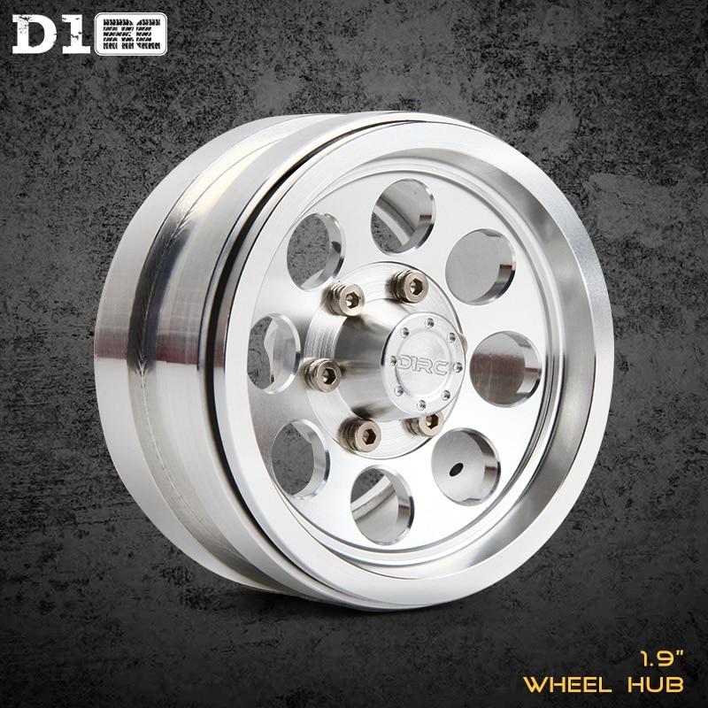4PCS D1RC 1.9 inch Hole-Design Beadlock RC Wheel Hub For 1:10 1:8 Traxxas TRX-4 TRX4 RC4WD D90 D110 TF2 Axial SCX10 90046
