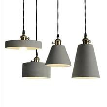 LukLoy современный промышленный бетонный цемент подвесной светильник для кухни Лофт офис магазин Гостиная украшения