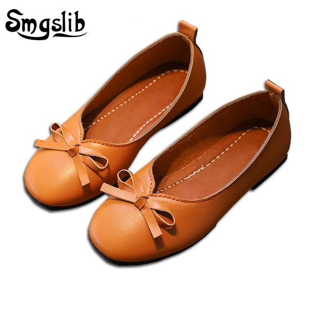 Smgslib Brand Girls Leather Shoes Princess Party Children Wedding Shoes  Soft Bottom Bow Kids Dance Single Baby Girls Dress Shoes 6063417eb8b2