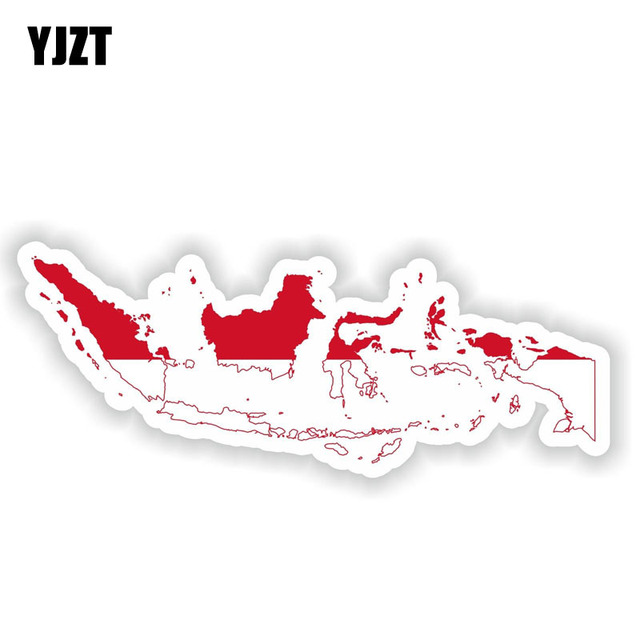 Car Window Creative Indonesia Map Flag Car Sticker Decal Accessories