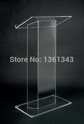 clear acrylic podium clear acrylic furniture hot sell simple solid custom led plexiglass podium podium cheap acrylic furniture