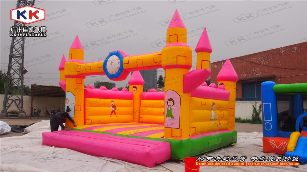 inflatable colorful bouncer for kids inflatable pink color trampoline jumping bouncer fo ...
