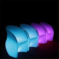 16 Цвета изменение аккумуляторная батарея пластика с подсветкой led барный стул пульт дистанционного управления световой подлокотник светящ