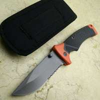 Hunting Knives Large Molde Folding Blade Knife Serrated Survival Knife Camping Ourdoor EDC Tools With Nylon