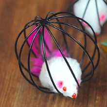Funny Cute Cat Toy Plush Mouse Pet Cage Rat Interactive Training Toys Squirrel Pets Acessorios Cats Products For 50DC0049