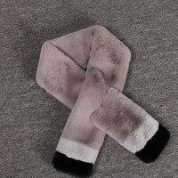 7 colors Women Long Faux Fur Rabbit fur scarf Winter Scarf New Design Faux Fur Collar Women Fashion Cape Luxury Women mz054