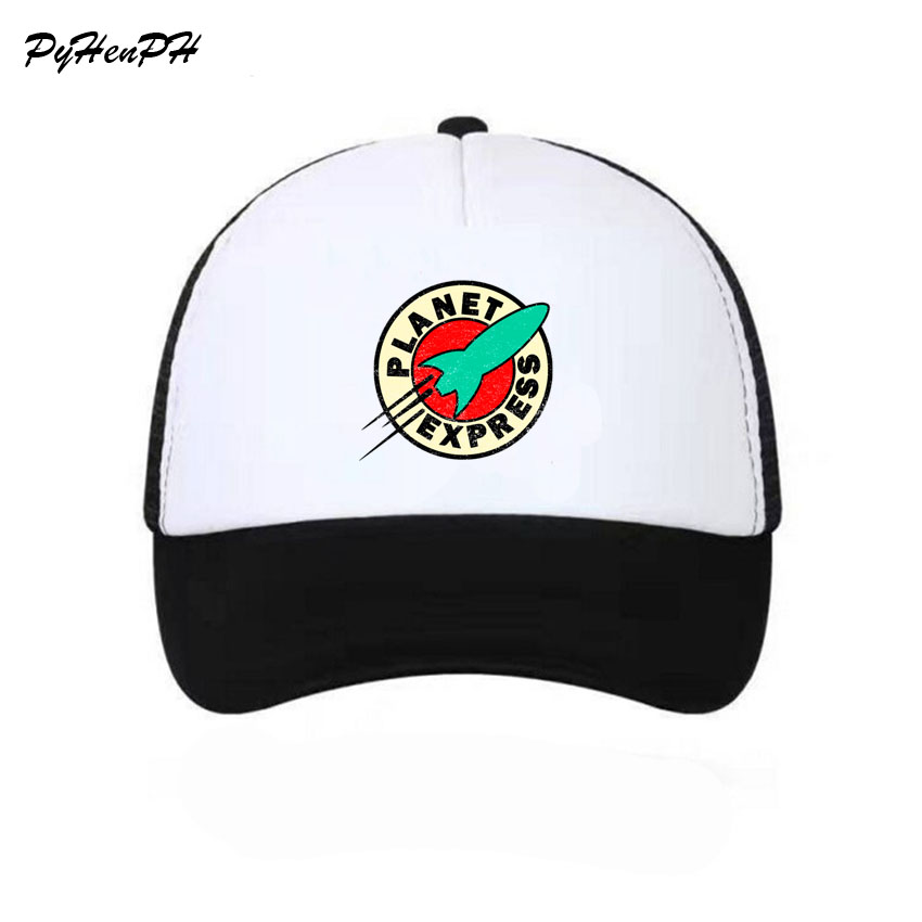 New 2018 Planet Express Trucker Caps Hat Funny Mesh Caps The Cool Summer Caps  Hat for Men Women Adult Unisex Baseball Cap-in Baseball Caps from Apparel  ... 652341f97df6
