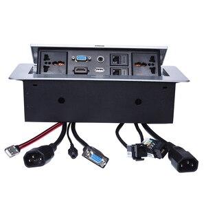 Prise de table universelle/cachée/VGA, audio 3.5 MM, HD HDMI, USB, réseau, boîtier de prise d'information RJ45/prise de bureau/B05