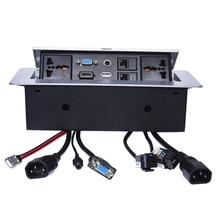 Universale di potere presa Da Tavolo/nascosta/VGA, audio da 3.5 MM, HD HDMI, USB, rete, RJ45 Informazioni scatola della presa/presa del desktop/B05