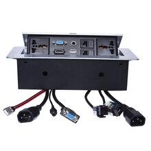 כוח אוניברסלי שולחן שקע/נסתרת/VGA, 3.5MM אודיו, HD HDMI, USB, רשת, RJ45 מידע לשקע תיבה/שולחן עבודה שקע/B05