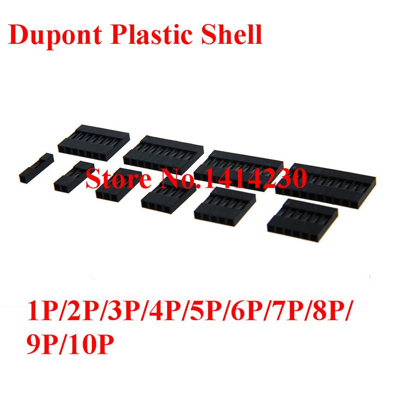 Hot Sale Dupont Plastic Shell 2.54mm Single /Double Row Dupont Connector 1P/2P/3P/4P/5P/6P/7P/8P/9P/10P 2*4pin/2*5pin Housing