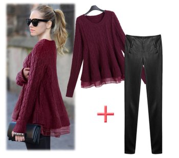 Sweaters Women Fashion New  Pullover Long Europe Temperament Knit Lace Sweater Women Loose Pullover Women's Vestidos