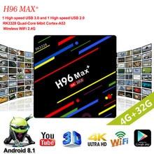 H96 Max+ MaX Plus Smart TV Box RK3328 Quad Core 64bit Mali-450 GPU 4G/64G Android 8.1 2.4G/5.0GHz Wifi Set Top Box Family TV h96 max android tv box 4g 32g or 64g rk3328 4k box 2 4g 5g wifi android 8 1 set top box h96 max plus with wireless keyboard