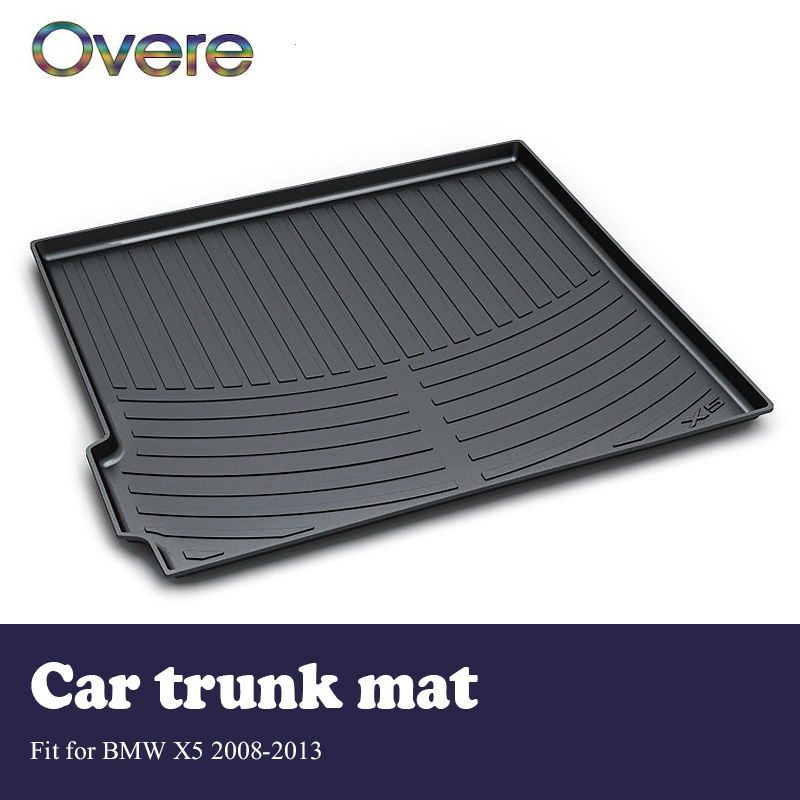 Overe 1Set Car Cargo rear trunk mat For BMW X5 E70 2008 209 2010 2011 2012 2013 Car-styling Boot Liner Anti Slip Mat Accessories цена