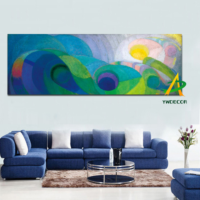 horizontal paintings for modern living rooms