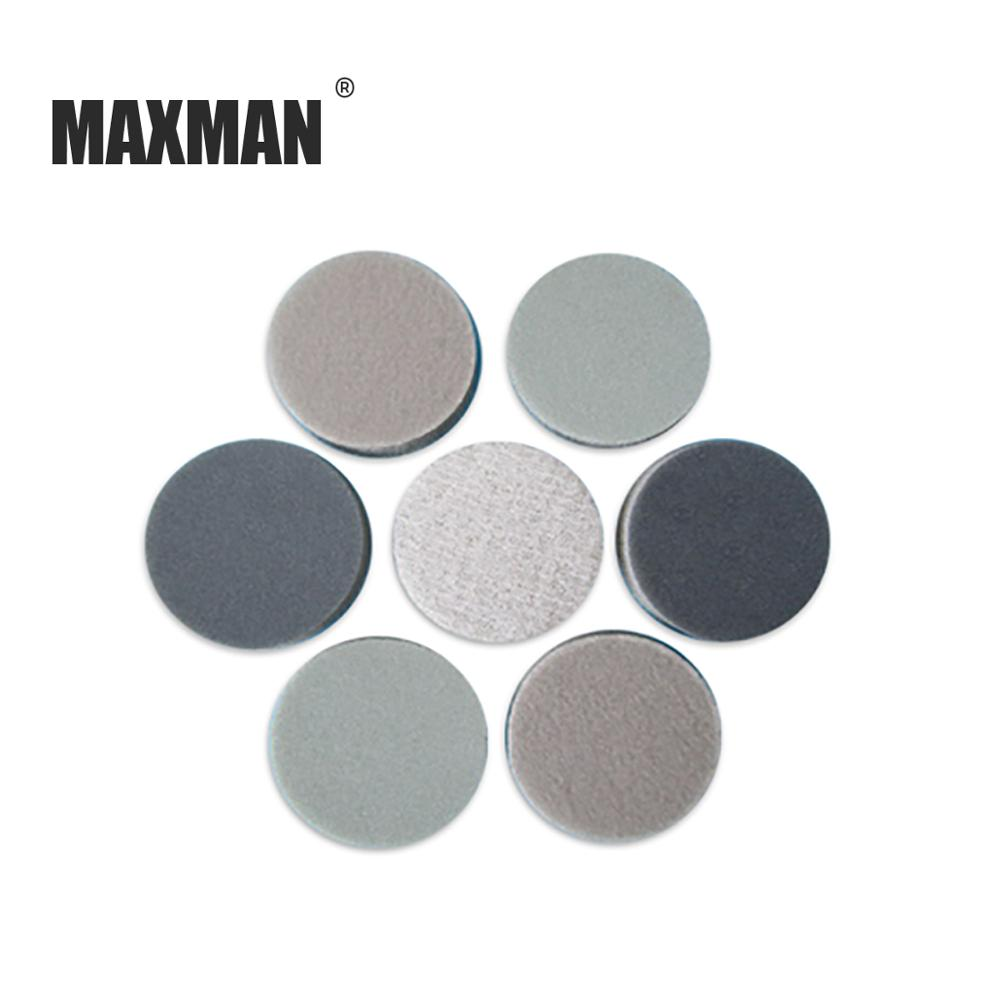 MAXMAN 30MM Flocking Sponge Disc Sandpaper Polishing And Wet /Dry Self-adhesive Tablets
