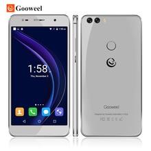 Original gooweel m8 handy dual 2.5d glas 5,5 zoll hd ips mtk6580 quad core handy fingerabdruck id13.0mp smartphone