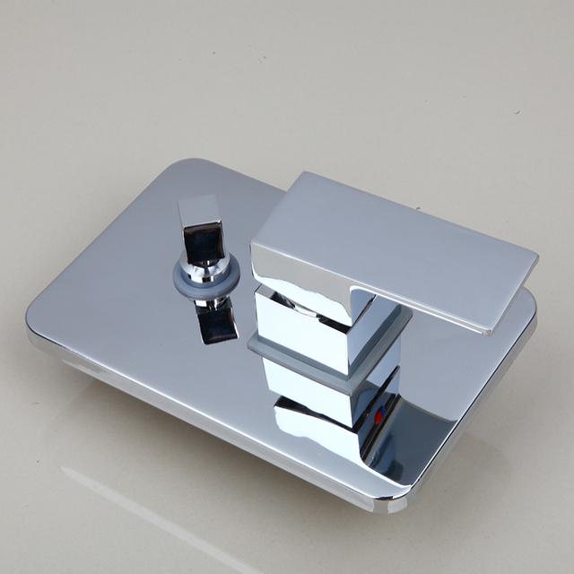 KEMAIDI High Quality Bathroom Wall Mounted 8″ Rain Shower Head Valve Mixer Tap W/ Hand Shower Rainfall  Shower Mixer Faucet Set