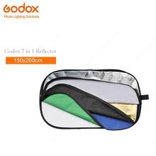Godox 7 в 1 150×200 см овальная RFT-10 Складной Фото Отражатель света диск Золото Серебро Черный белый полупрозрачный синий зеленый