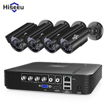 Hiseeu Cctv-Camera-System Surveillance-System Waterproof Outdoor 720P/1080P Dvr-Kit Home-Video
