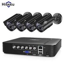 Système de vidéosurveillance caméras HISEEU DVR Kit 4CH 720P/1080P AHD étanche surveillance vidéo HDD pour domicile intérieur et extérieur