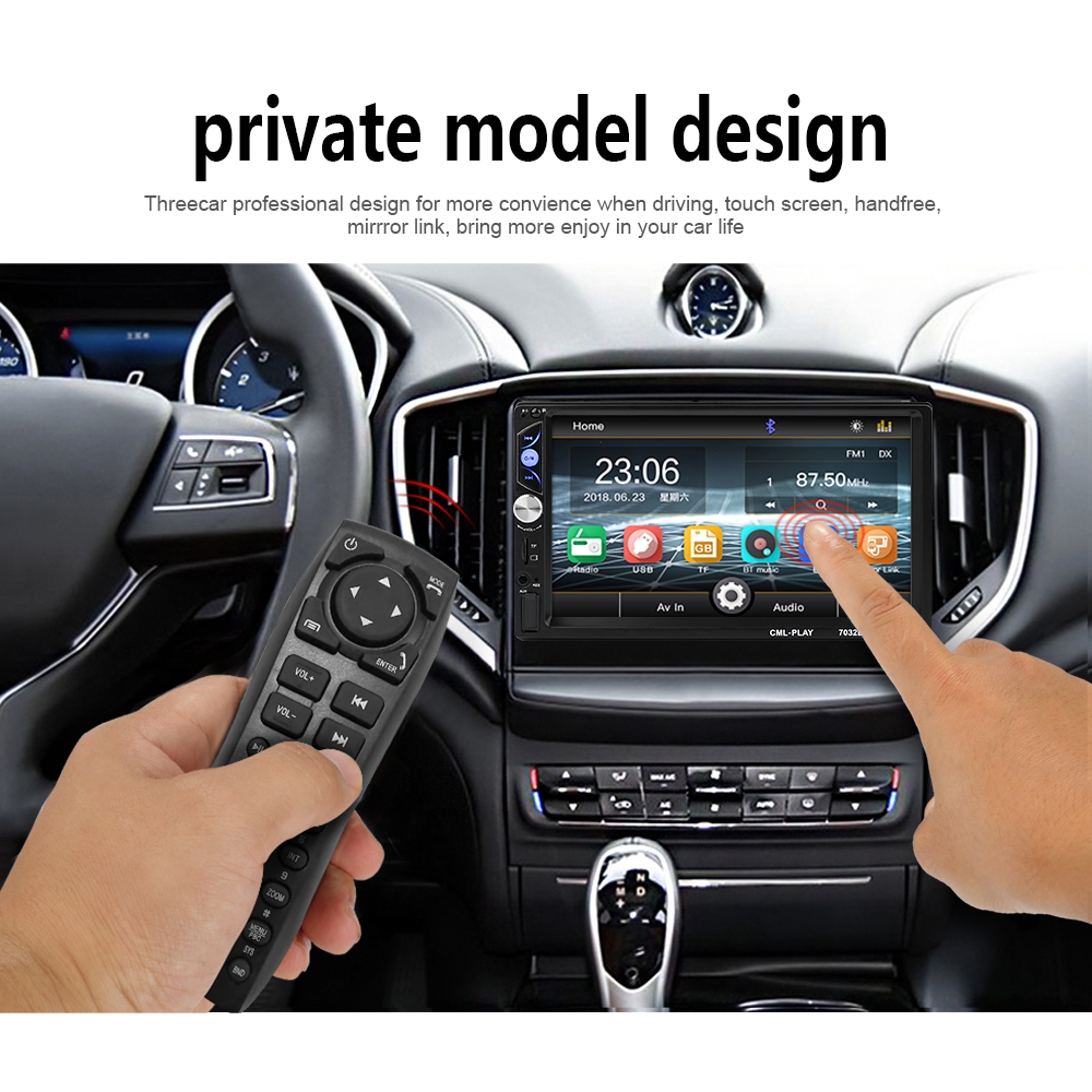 "2din автомобиля Радио 7 ""Touch mirrorlink Авто Аудио плеер для сабвуфера MP5 плеер авторадио Bluetooth заднего вида Камера ленты рекордер"