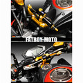 2015 novos autêntica motocicleta Kawasaki Z800 CNC titanium conjunto suporte de amortecimento amortecedor de direção pé anti shakes