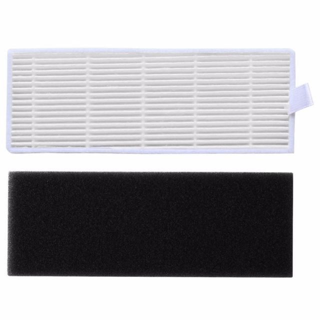 Hot 20Pcs/lot HEPA Filter & Sponge Filters Replacements For Ilife A4s A6 A4 A40 Dust Cleaning Filter Vacuum Cleaner Accessories
