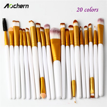 Aochern 20pcs Eye Makeup Brushes Set Eyeshadow Blending Powder Foundation Eyeshadading Lip Eyeliner Brush Cosmetic Tool #1003