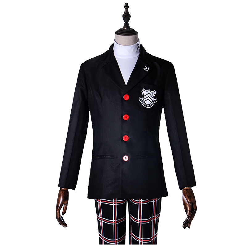 Persona 5 Hero Akira Kurusu School Uniform Cosplay Costume Full Set Uniform ( Jacket + Shirt + Pants ) Halloween Party Costumes