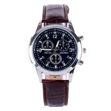 Men Women Leather Stainless Steel Military Sport Bracelet Quartz Wrist Watch