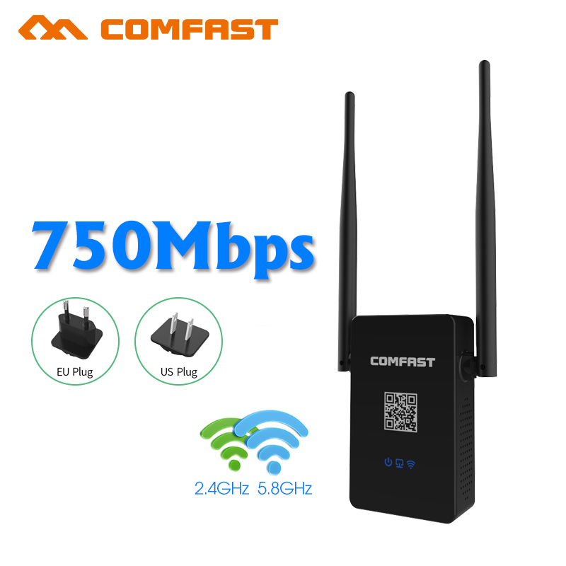 Comfast Dual Band 750Mbps Wifi Repeater WIFI Roteador 802 11AC Wireless Router 2 4 5 8