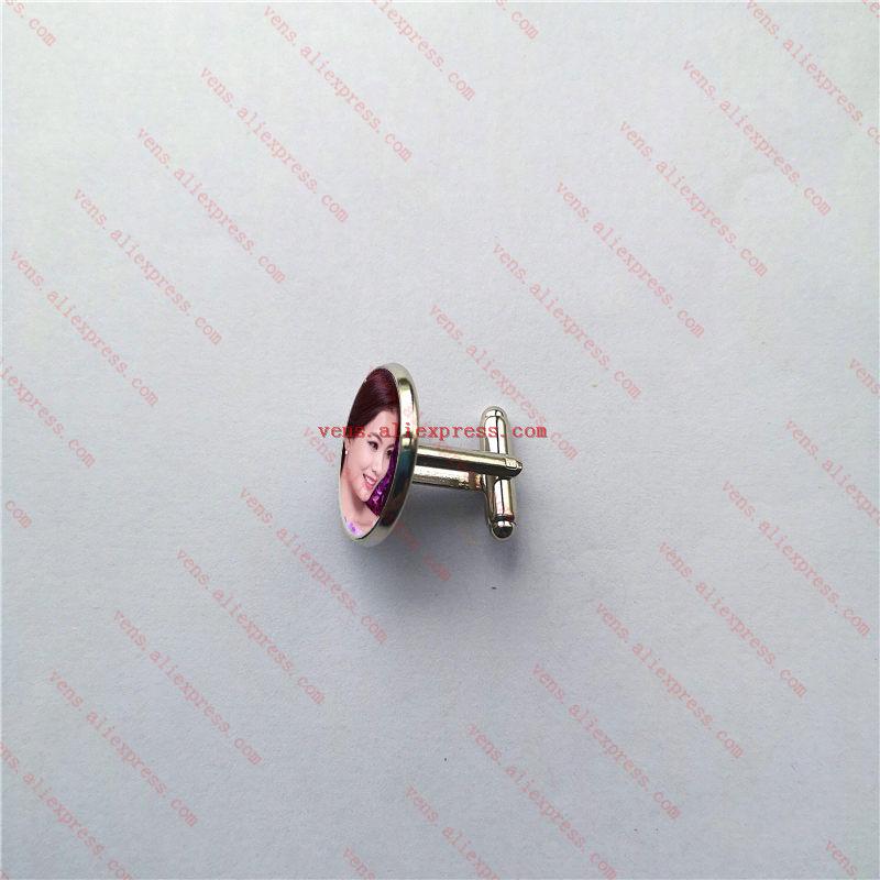 ระเหิด cufflinks แฟชั่นรอบ cufflink การพิมพ์การถ่ายเทความร้อน diy วัสดุสิ้นเปลือง 7 สี 100 ชิ้น/ล็อต-ใน คลิปหนีบเนกไทและคัฟลิงก์ จาก อัญมณีและเครื่องประดับ บน   1