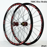 700C Disc Brake Road Bike Wheelset Cross Country Bicycle Wheel V/C Brake ultralight 1700g Rim 30mm