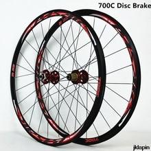 700C дисковый тормоз, шоссейный велосипед, колесная дорожка, велосипедное колесо V/C, Сверхлегкий тормоз 1700 г, обод 30 мм
