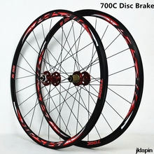700Cディスクブレーキロードバイクホイールセットクロスカントリー自転車ホイールv/cブレーキ超軽量 1700 グラムリム 30 ミリメートル