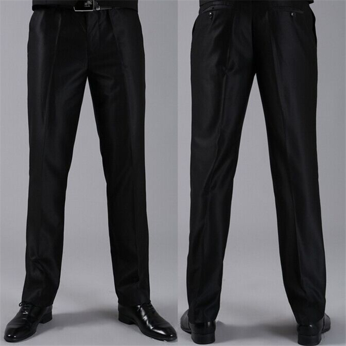 Мужские костюмные брюки модные свадебные формальные 12 цветов повседневные брюки известный бренд блейзер брюки Деловое платье брюки CBJ-H0284 - Цвет: standa shinny black