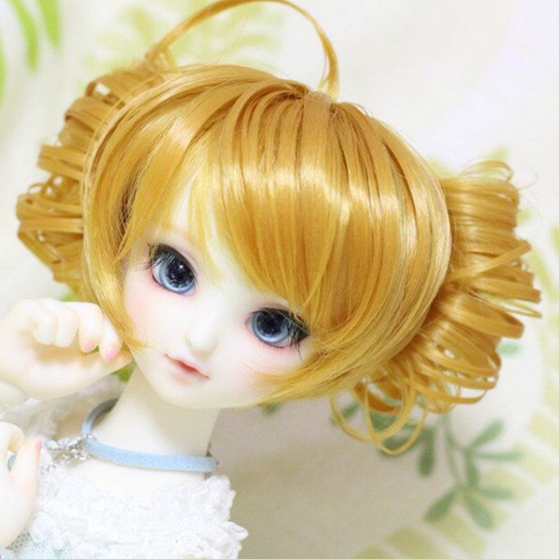 """5 """"-5.5"""" кукла парик костюм для 13 см окружность головы"""