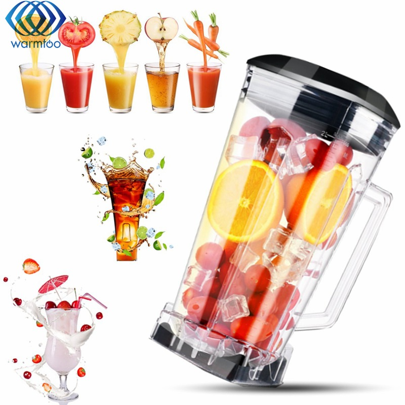 Multi-function 2L Juicer Container Mixing Square Cup Mixer Fruit Blender Commercial Grade Juicer Parts BPA 3HP Heavy Duty