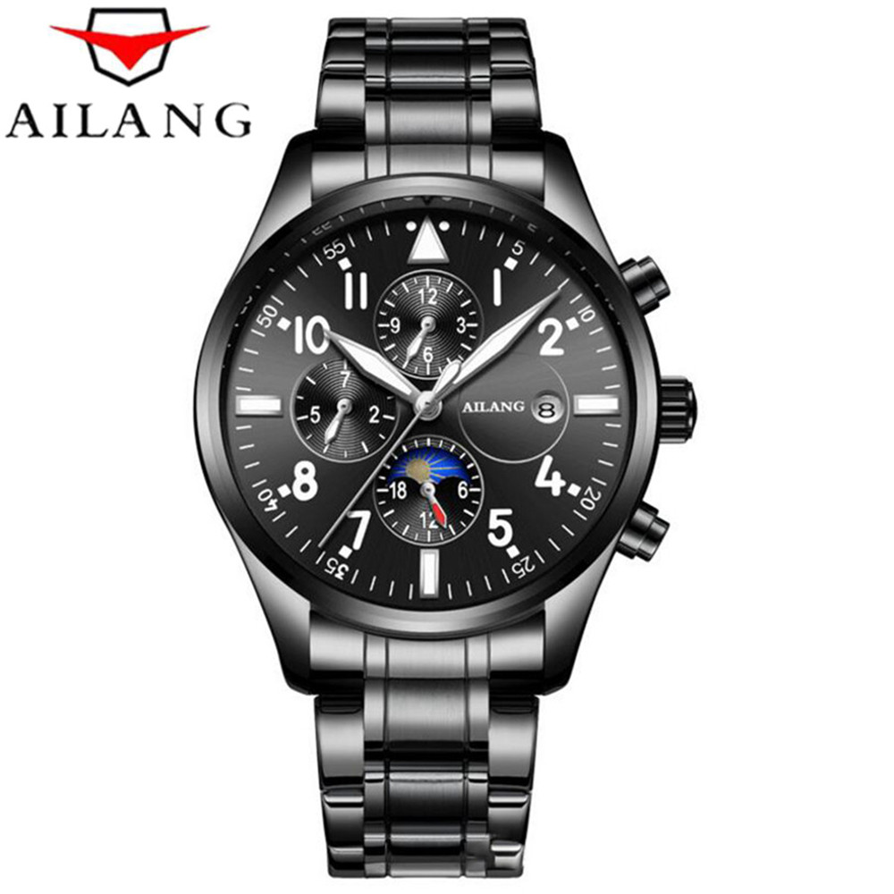 Famous Luxury brand Fashion Automatic Mechanical Watch Men Stainless steel Waterproof Calendar Sport Wrist Watch Relojes Hombre free shipping 40inch folk guitar cover waterproof 41inch folk bag travel guitar case 41inch guitar bag folk shoulder strap bag