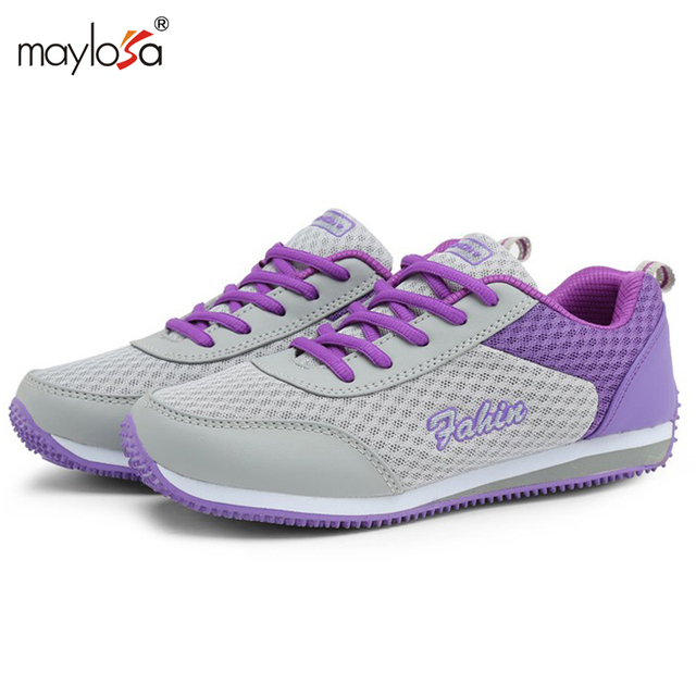 2017 New Summer spring women flat shoes Breathable Mesh Casual Shoes for women Zapatillas Deportivas Mujer Shoes  Lace Up ML18